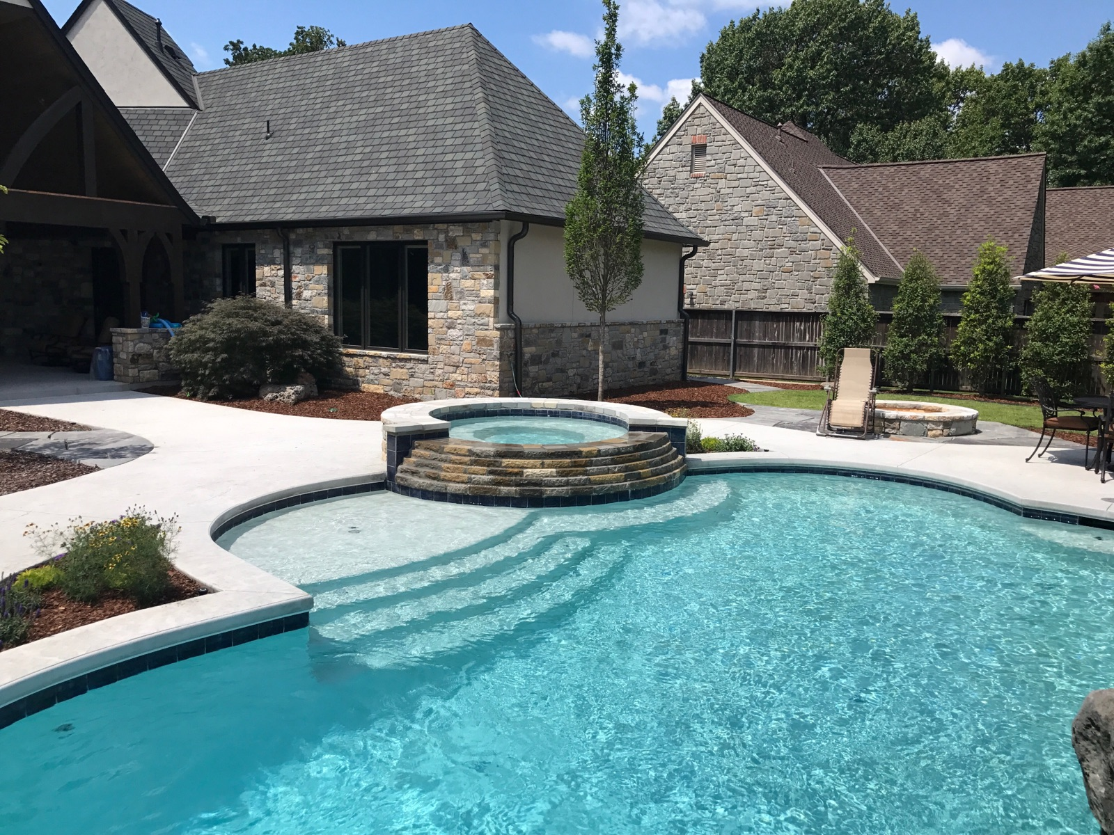 HUNTER'S HILLS - Vivion Pools and Spas - Custom Built In ... on Outdoor Living Pool And Spa id=86636